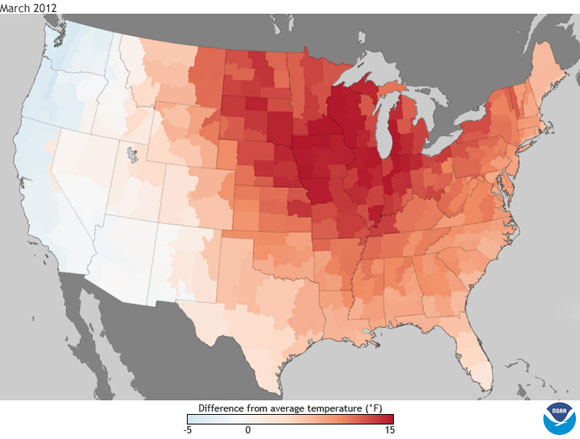 NOAA: Warmest March on Record