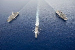 Social Security Spending at the Rate of Five Aircraft Carriers A Month!