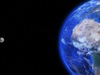 space earth moon